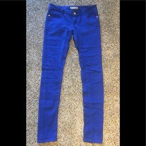 "Blue Skinny Jeans 37"" inseam"